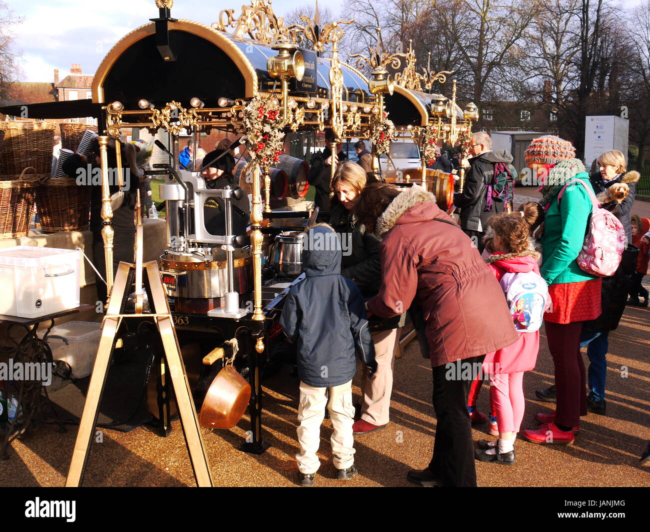 Winchester Cathedral Cristmas Market - Stock Image