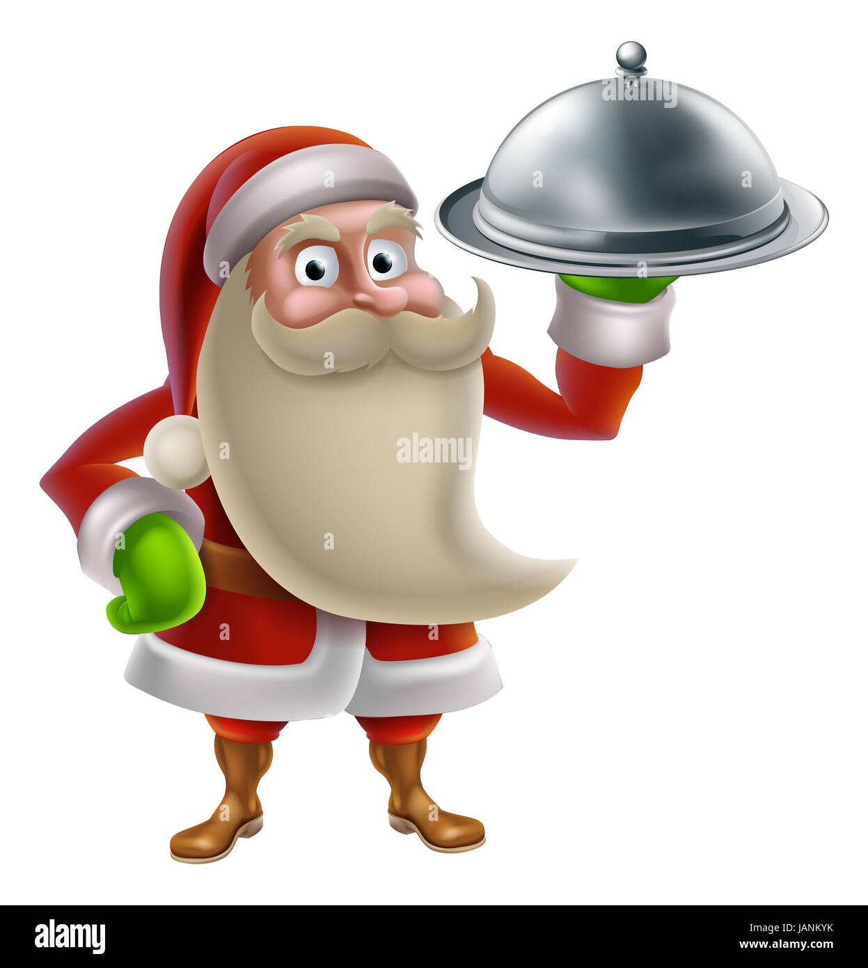 Santa Claus Holding Tray Food Stock Photos Amp Santa Claus