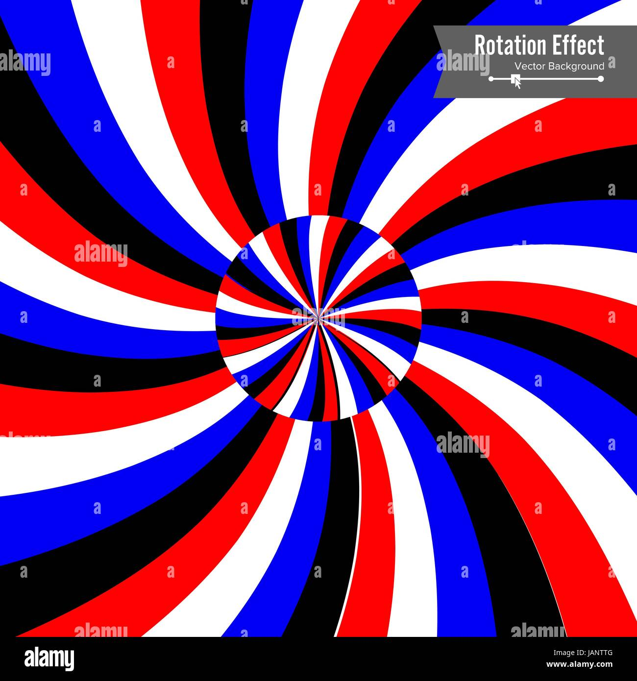 Optical Illusion Vector 3d Art Rotation Dynamic Effect