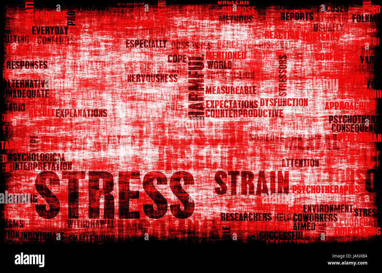 Stress Management and Being Over Stressed as Art - Stock Image