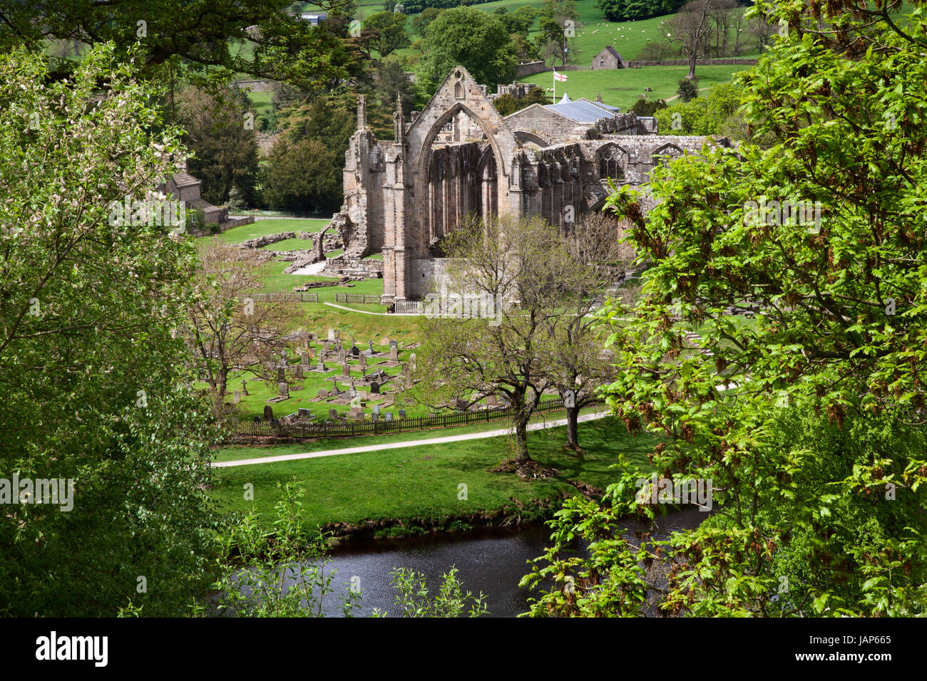 Bolton Abbey Priory, Wharfedale, Yorkshire Dales - Stock Image