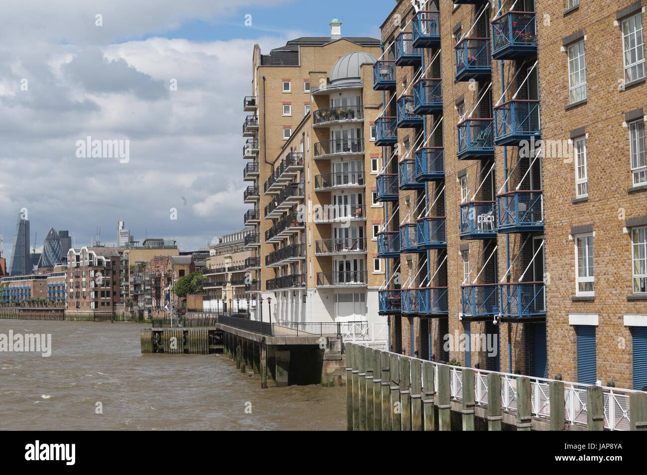 River Thames at Limehouse - Stock Image