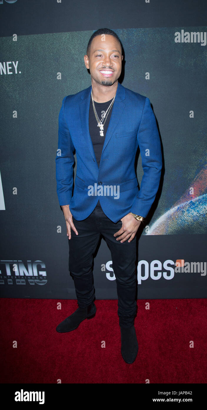 """Los Angeles, USA. 06th June, 2017. Terrence Jenkins attends the Premiere of Riveting Entertainment's """"Chris - Stock Image"""