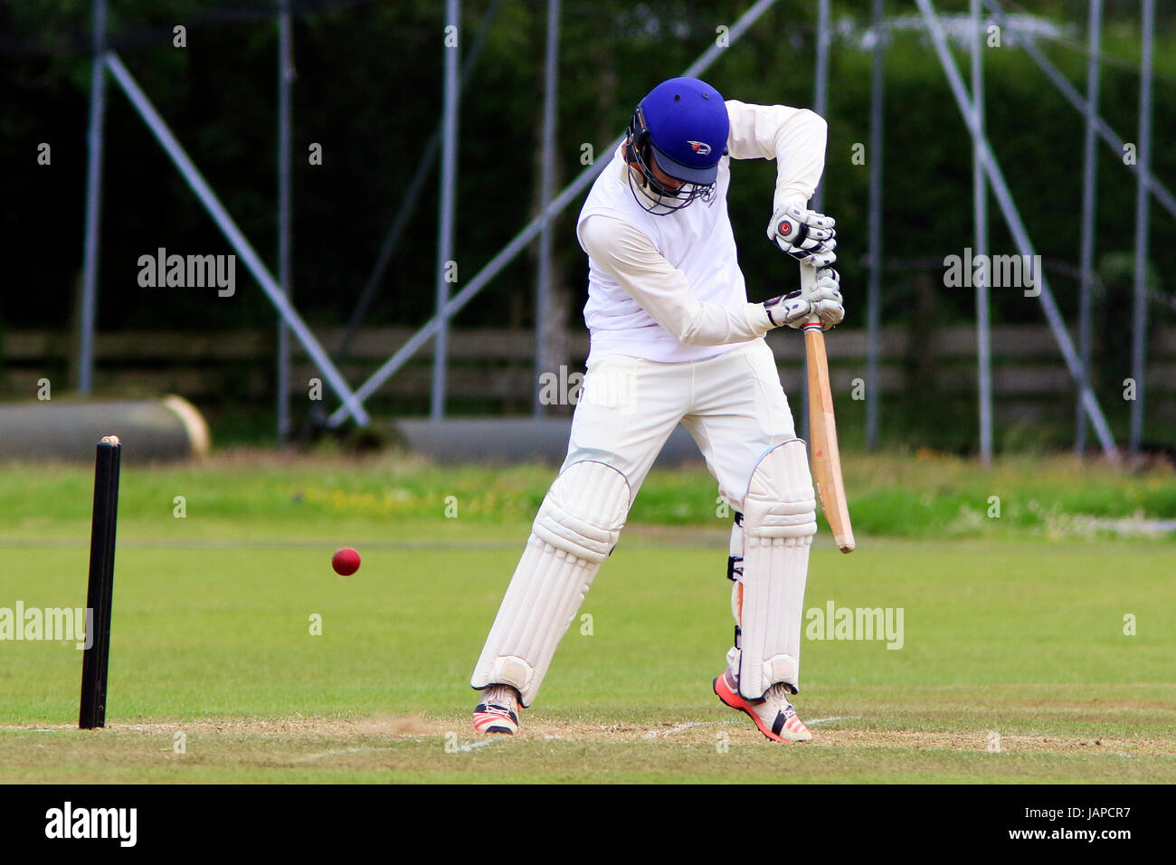 Ayr, Scotland, UK. 7th June, 2017. On the first day of play in the ICC Intecontinental Cup, Scotland played against - Stock Image