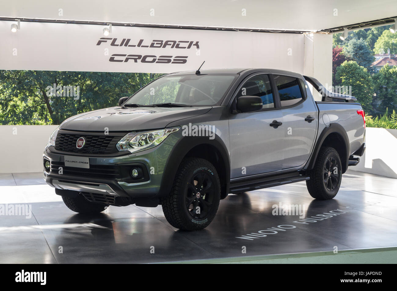 Turin Italy 7th June 2017 A Fiat Fullback Cross Third Edition Of Pickup Truck Parco Valentino Car Show Hosts Cars By Many Automobile Manufacturers And Designers