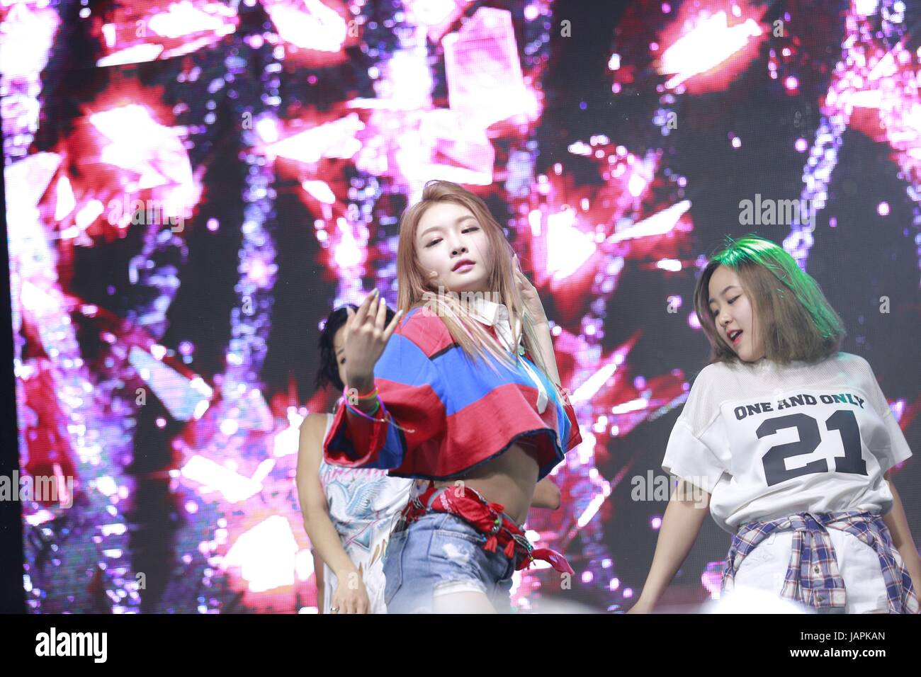 Seoul Korea 07th June 2017 Kim Chung Ha Hold Showcase To Promote