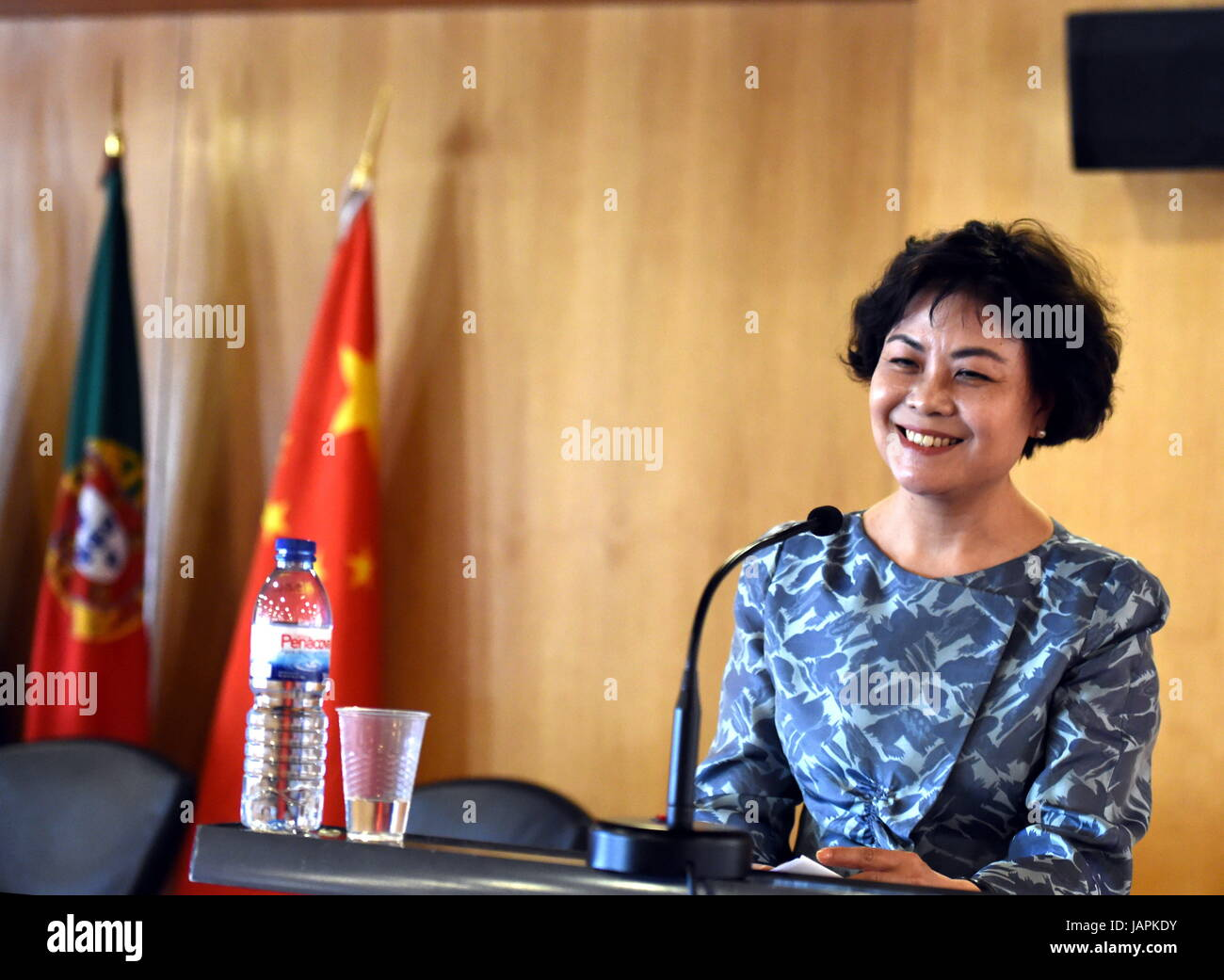Lisbon, Portugal. 7th June, 2017. Chairwoman of the Chinese ...