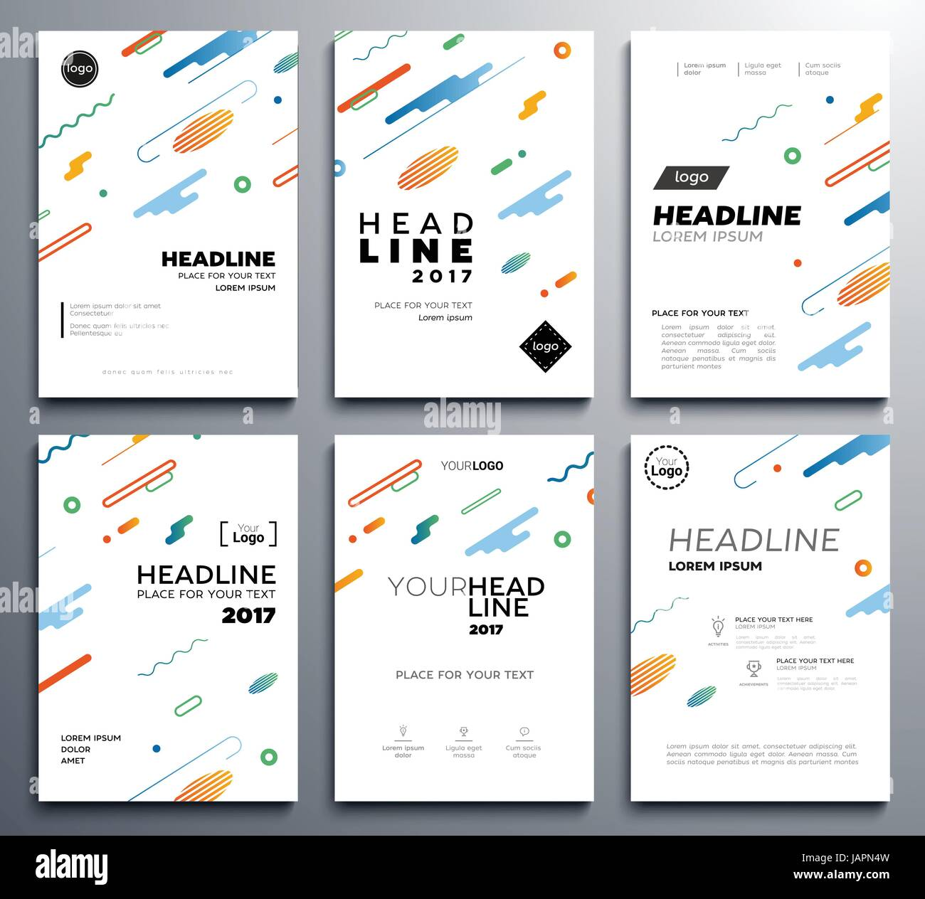 Presentation booklet covers - vector template pages set Stock Vector ...