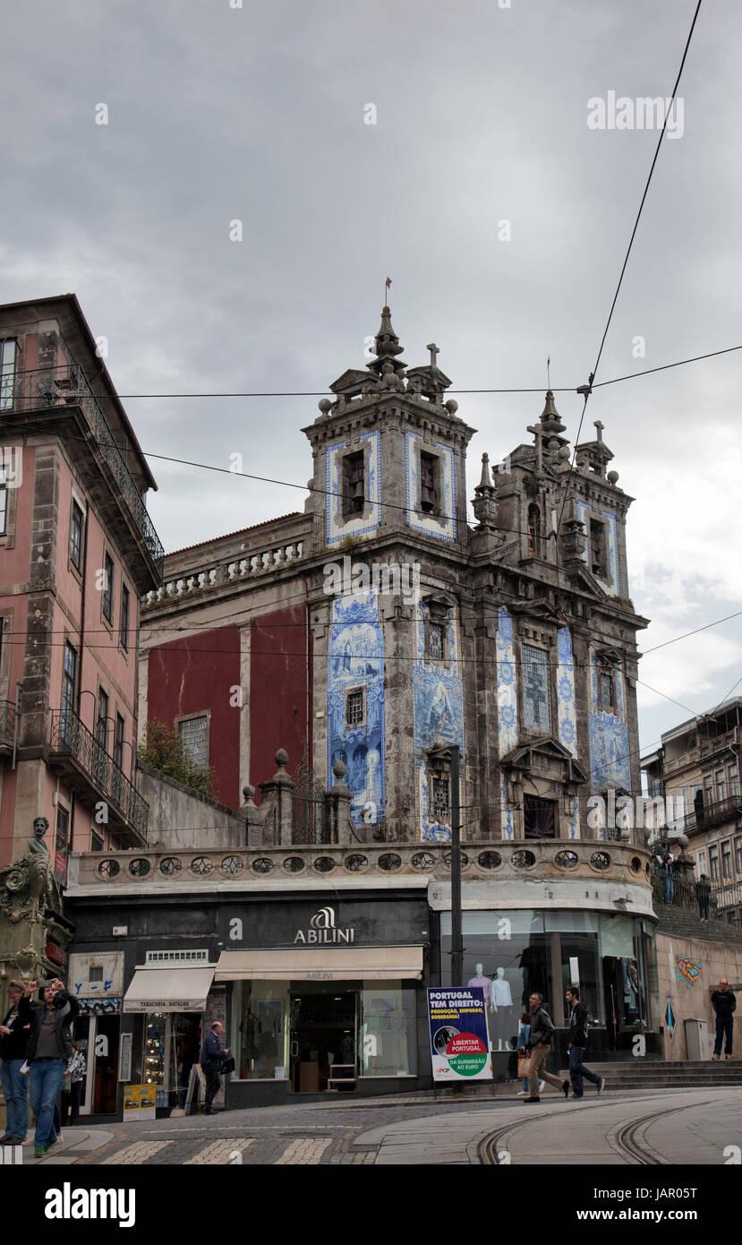 Igreja de Santo Ildefonso - Porto Portugal - Stock Image