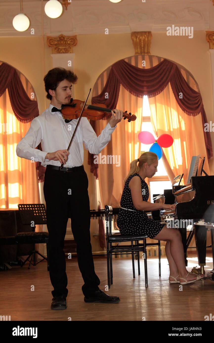 Europa, Russland, Republik Tatarstan, Kasan, Musik-Konservatorium Stock Photo