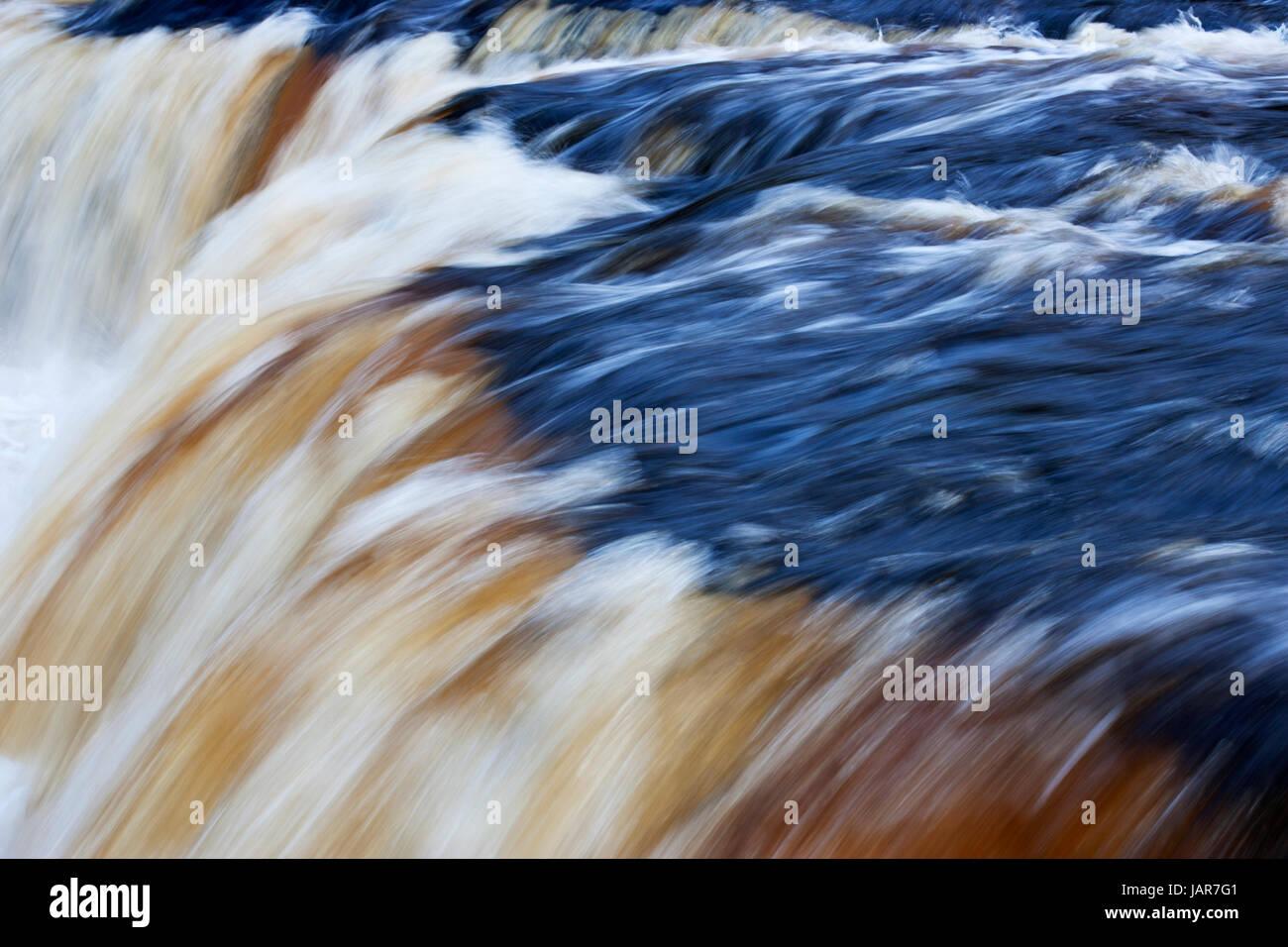 Aysgarth Falls, Wensleydale, Yorkshire Dales Stock Photo