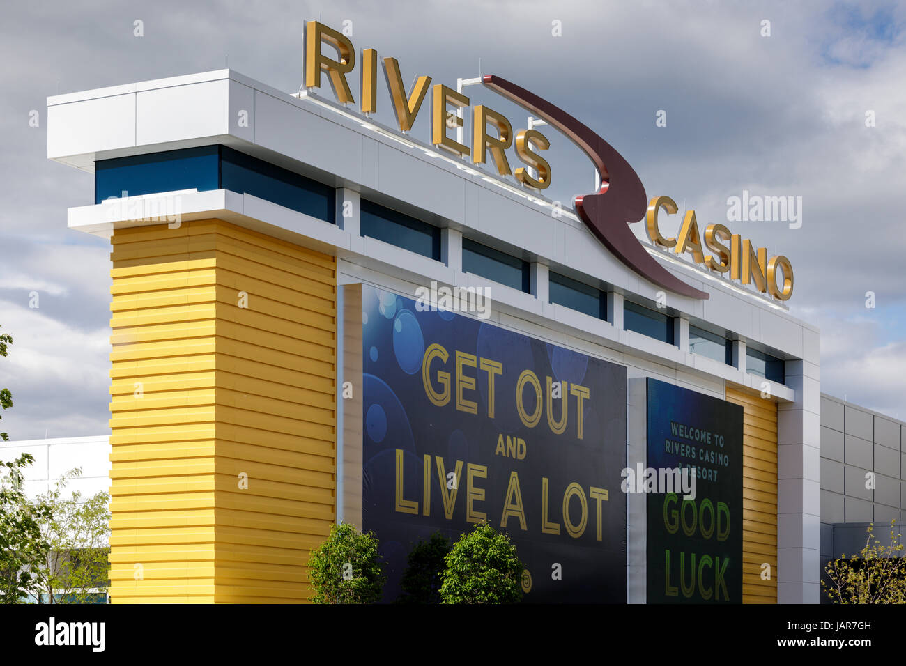 SCHENECTADY, NEW YORK, JUNE 3, 2017: Rivers Casino has recently opened here. The state hopes it will inject some - Stock Image