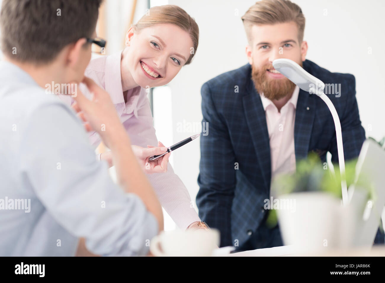 Young businesspeople working together - Stock Image