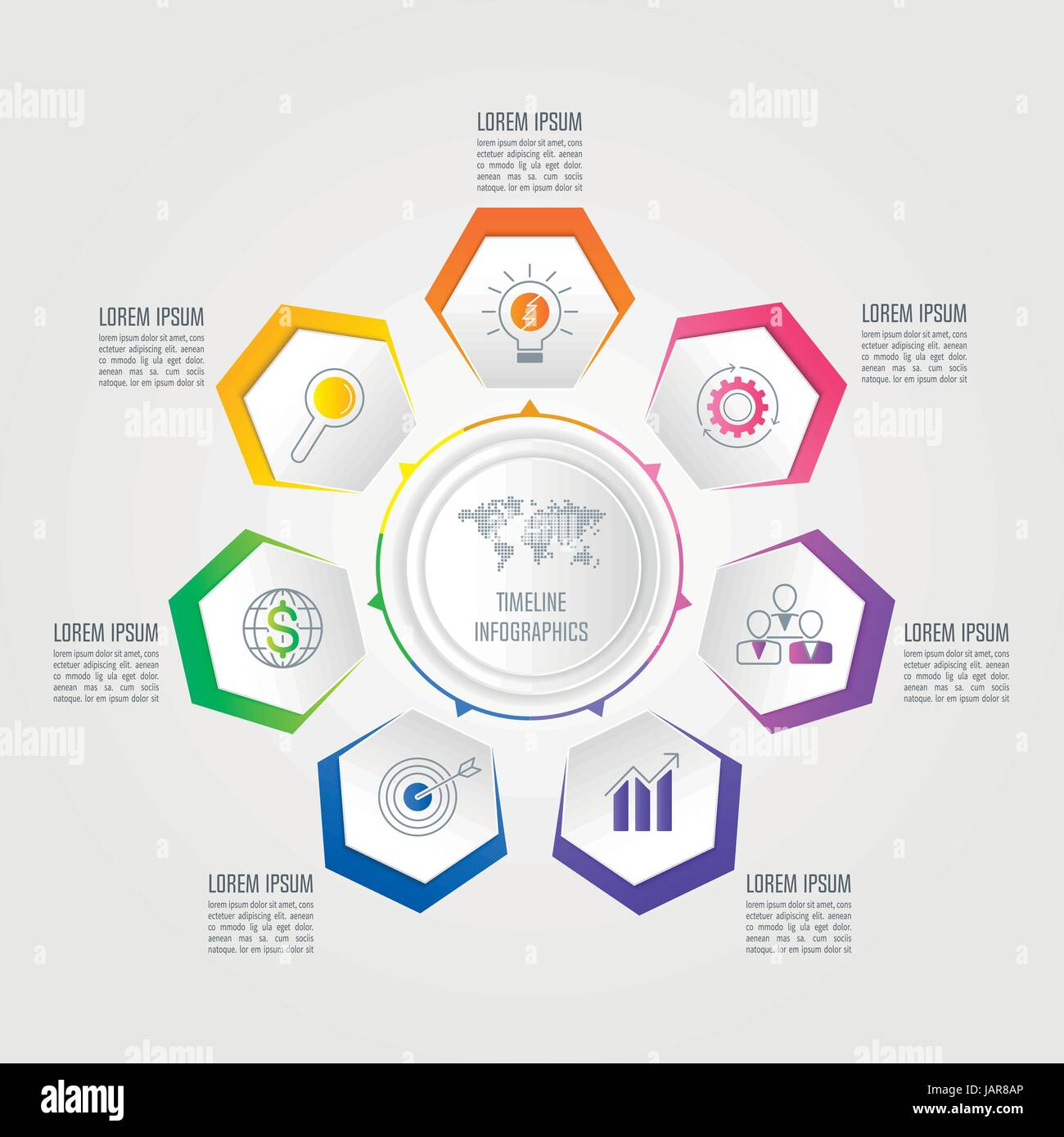 creative concept for infographic. timeline infographic design vector