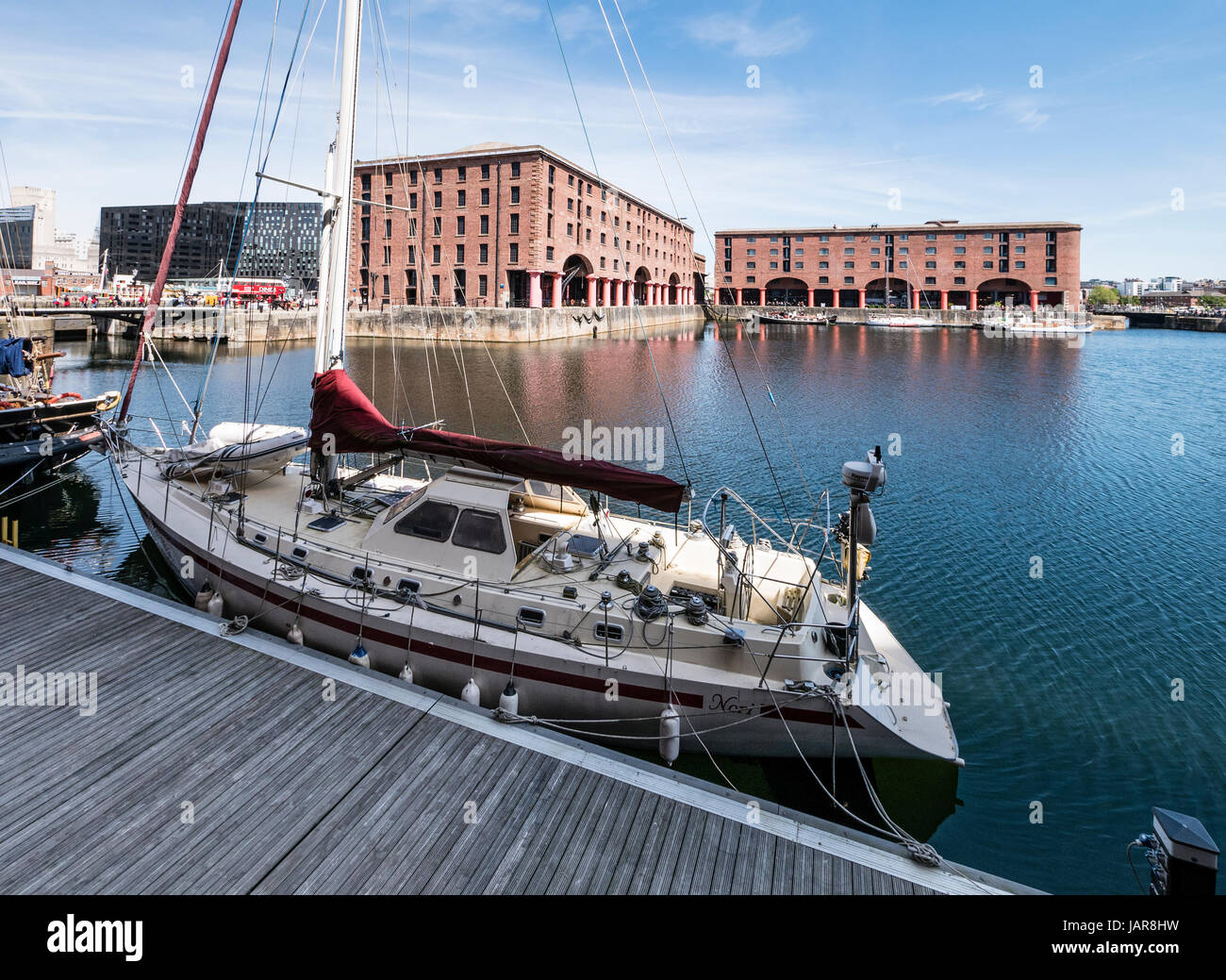 The Albert Dock complex of dock buildings and warehouses was opened in 1846, in Liverpool, England. Designed by - Stock Image