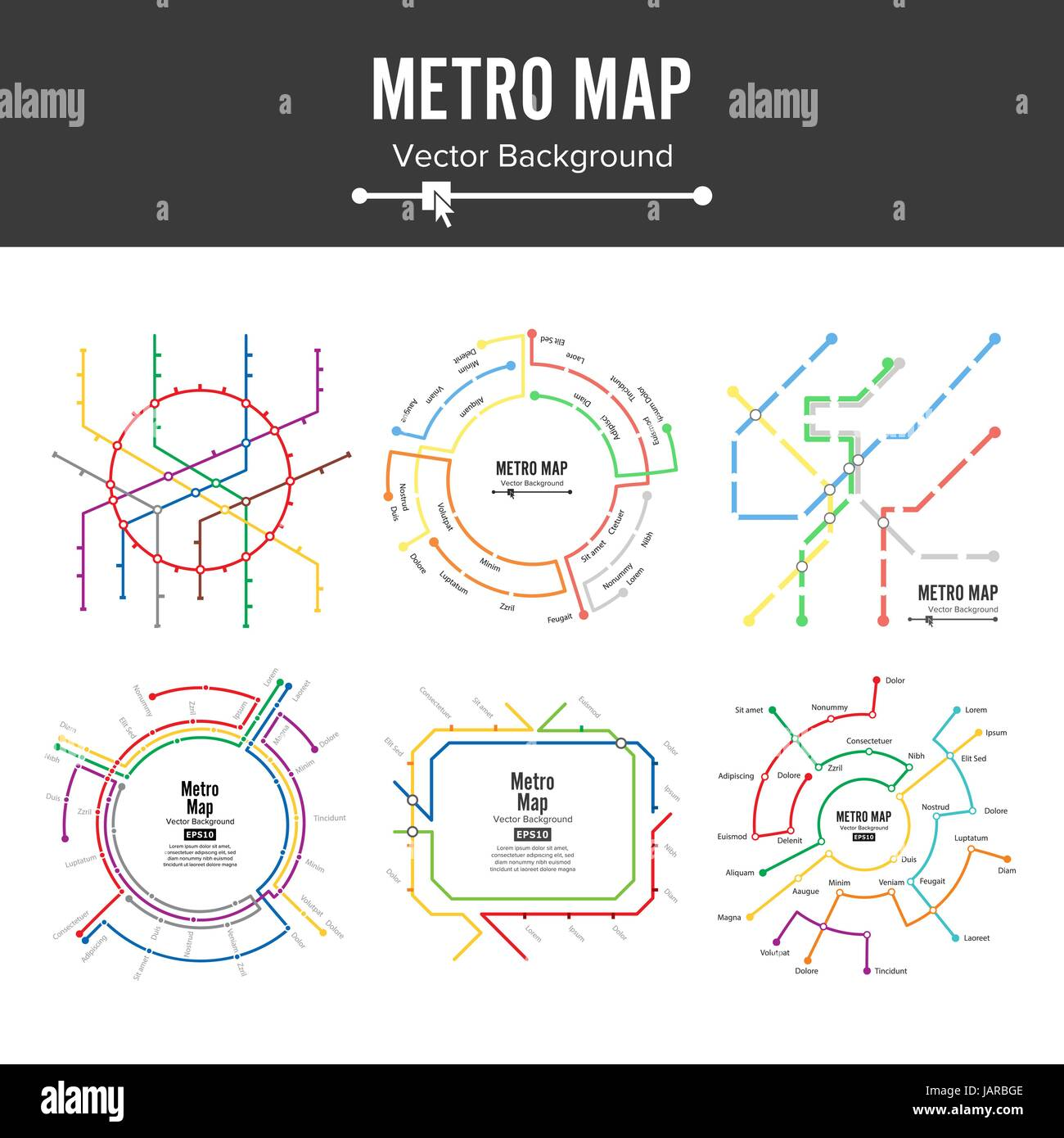 metro map vector plan map station metro and underground railway metro scheme illustration colorful background with stations