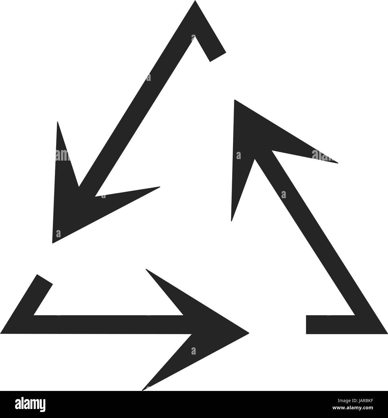 Simple Flat Design Recycle Symbol Vector In Black Stock Vector Art