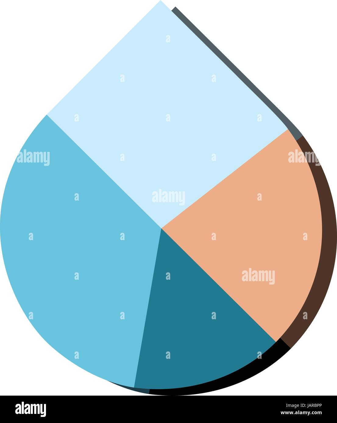 Modern flat design vector water drop pie chart in various colors modern flat design vector water drop pie chart in various colors ccuart Choice Image