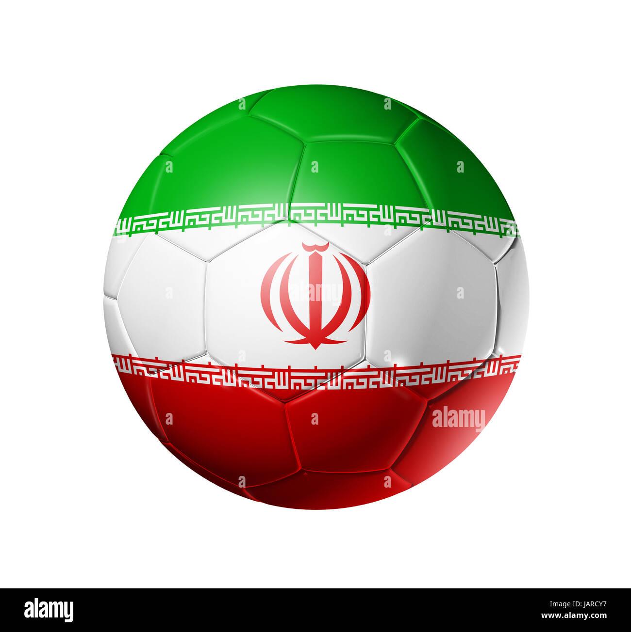0d676acda60 3D soccer ball with Iran team flag