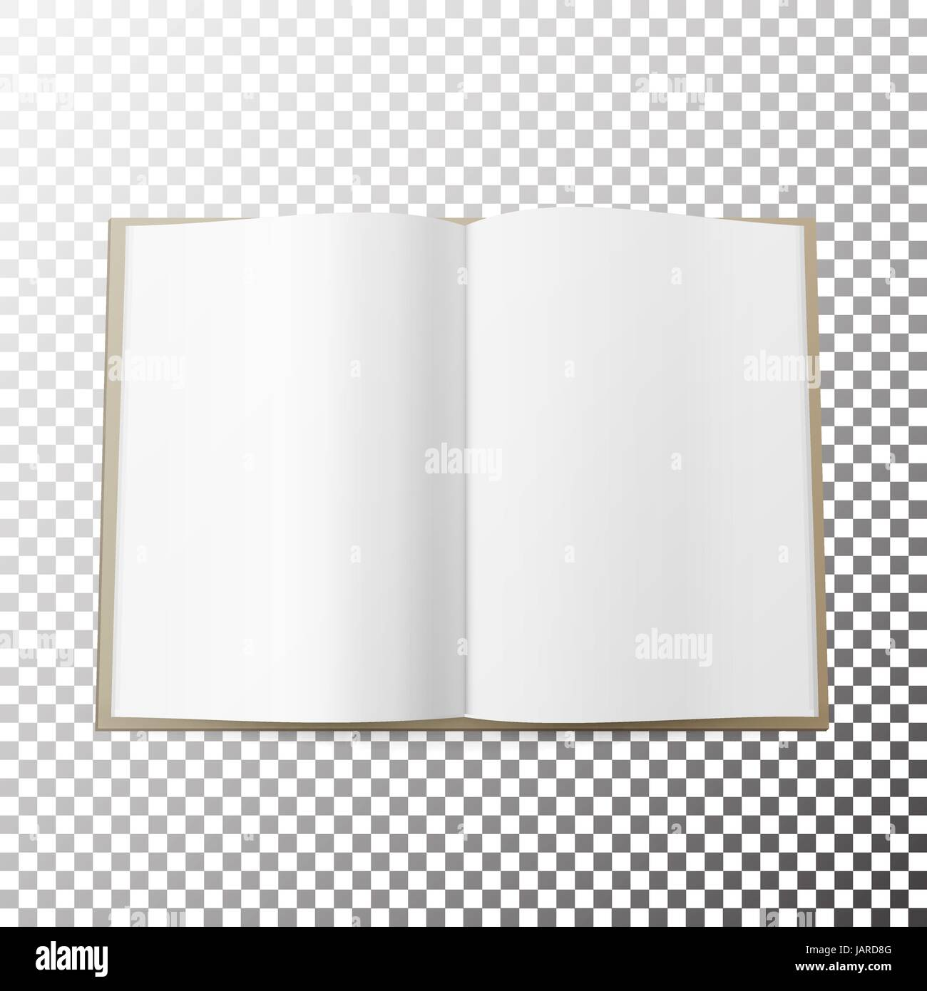 open magazine spread blank vector simple mock up template lying