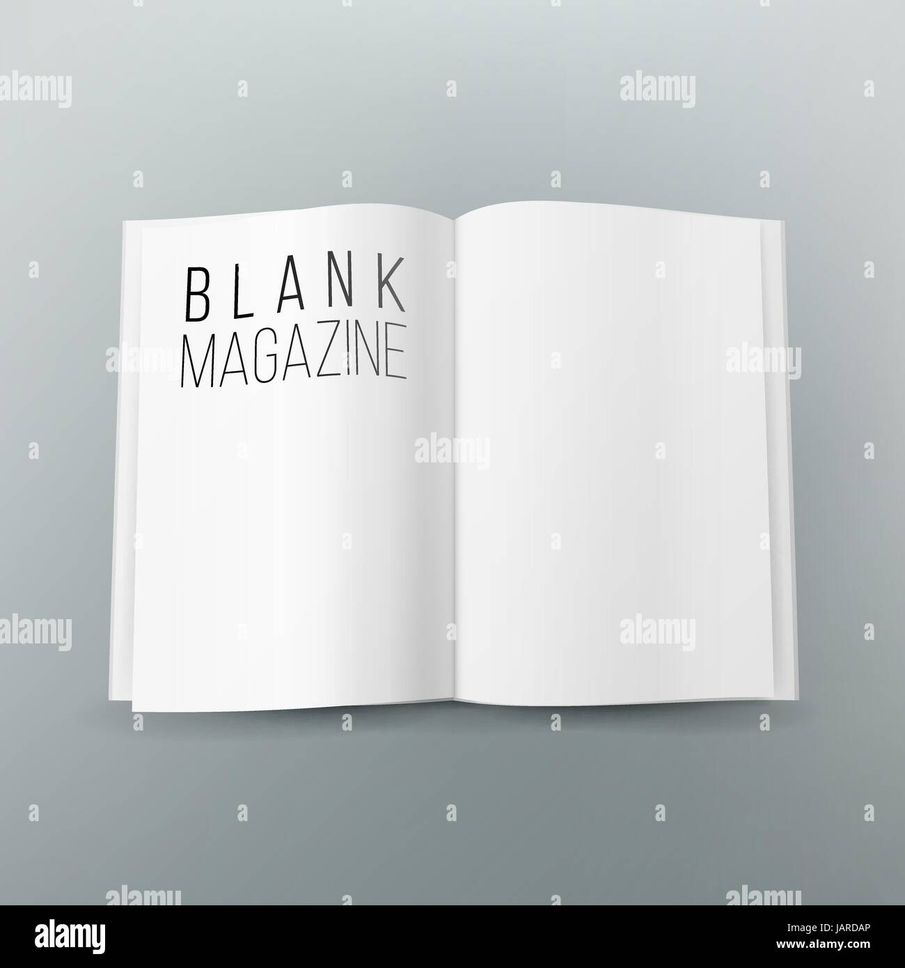 Open Magazine Spread Blank Vector 3d Realistic Template Empty