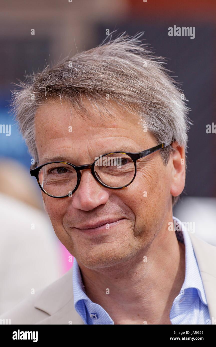 VISBY, SVERIGE - 5 JULI 2016 : Göran Hägglund, fd socialminister och partiledare KD Almedalen den 5 juli - Stock Image