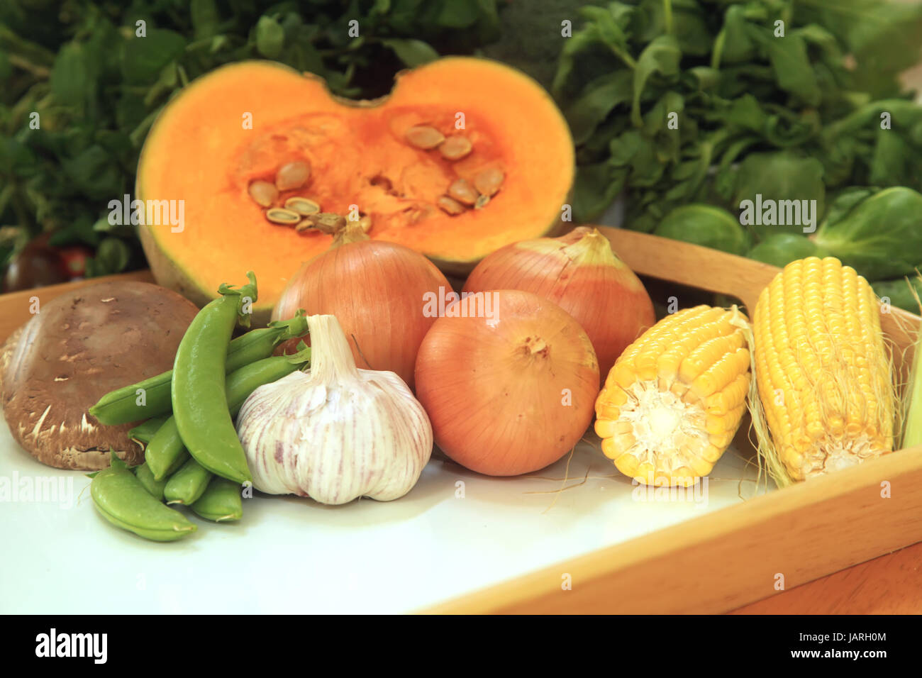 Common Vegetables Frequently Used for Cooking - Stock Photo