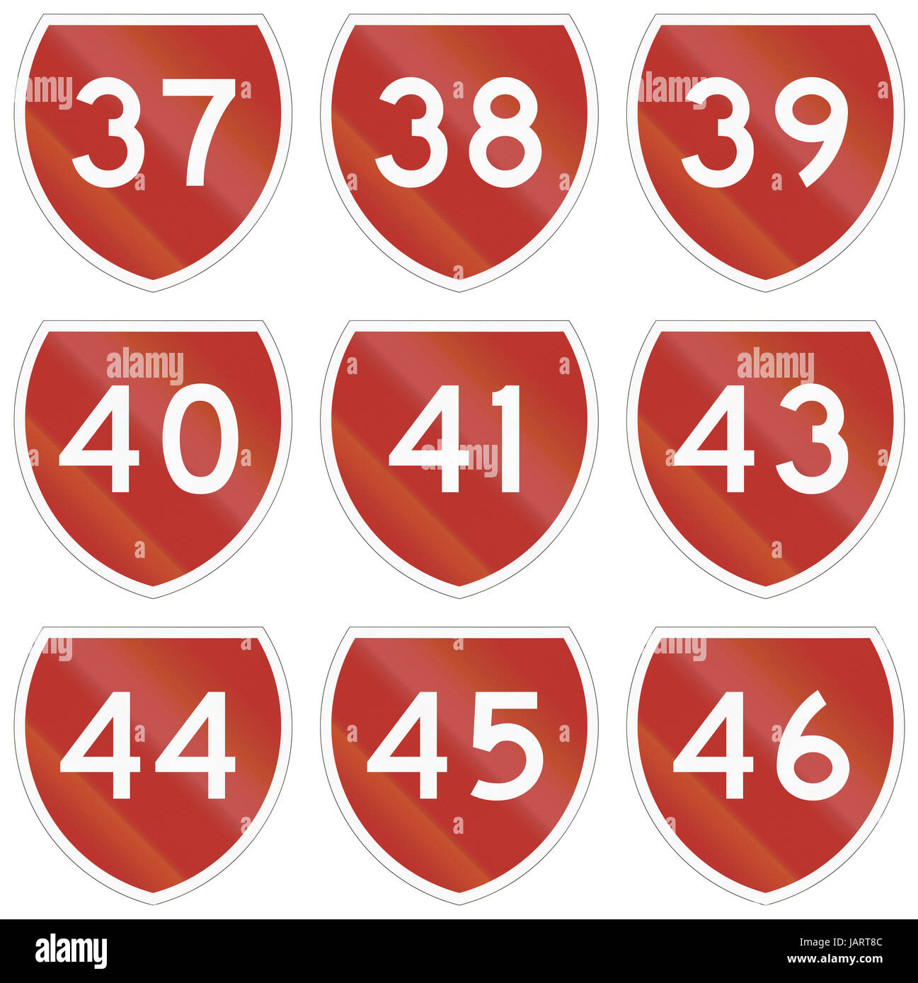 Collection of state highway shields in New Zealand. - Stock Image