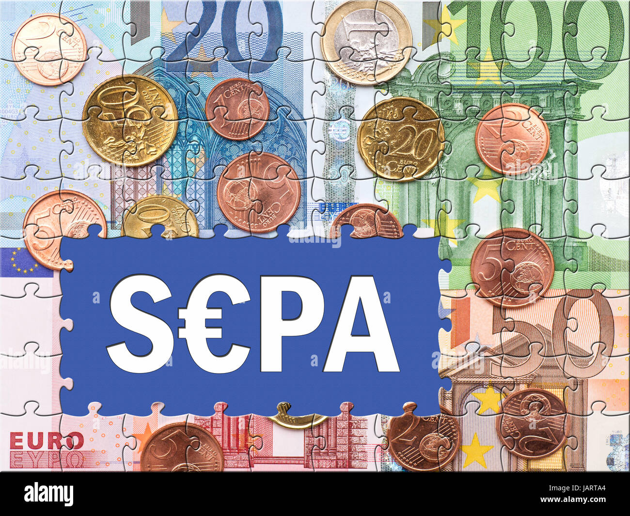 SEPA - Single Euro Payments Area - Stock Image