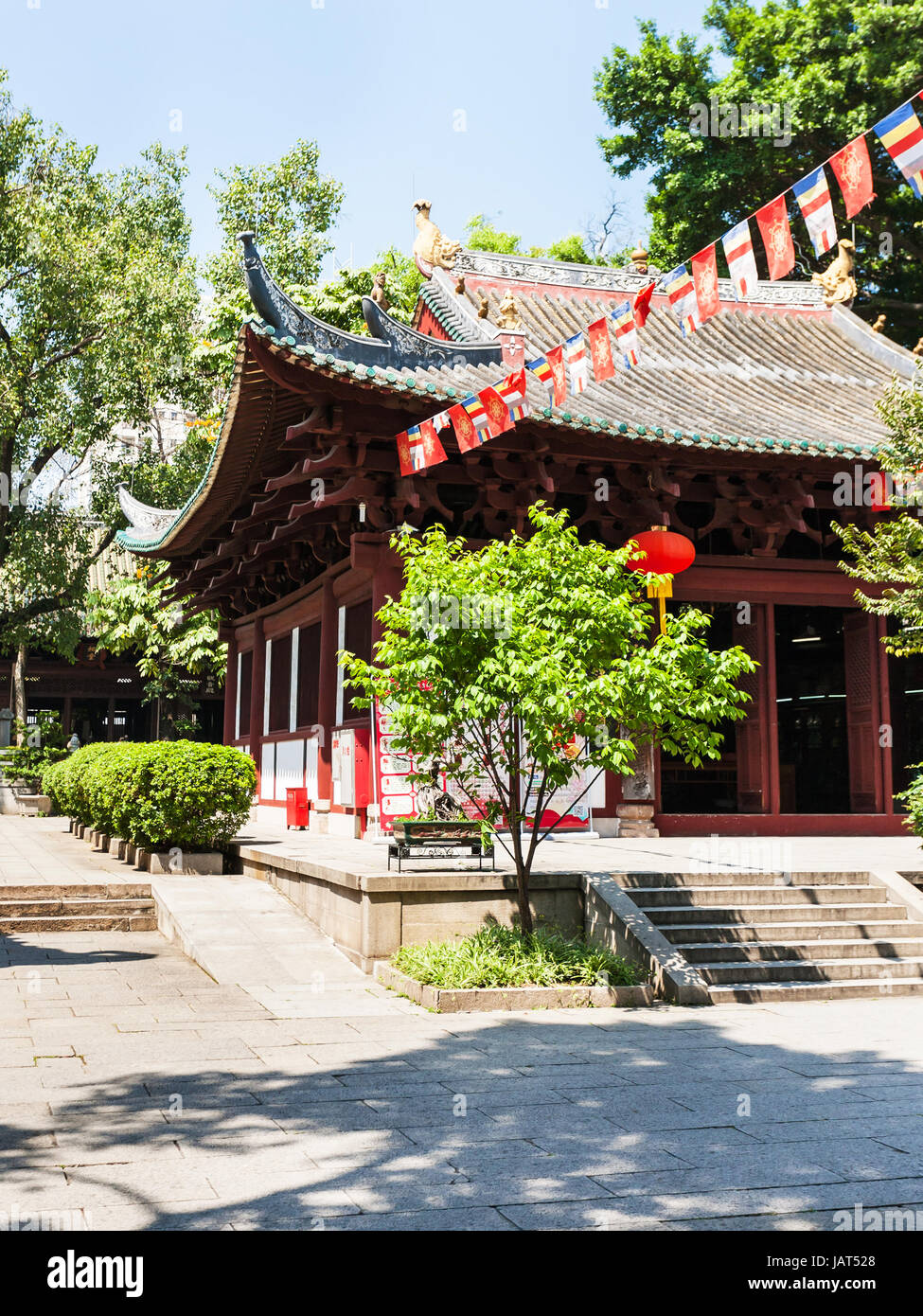 GUANGZHOU, CHINA - APRIL 1, 2017: courtyard of Guangxiao Temple (Bright Obedience, Bright Filial Piety Temple). - Stock Image