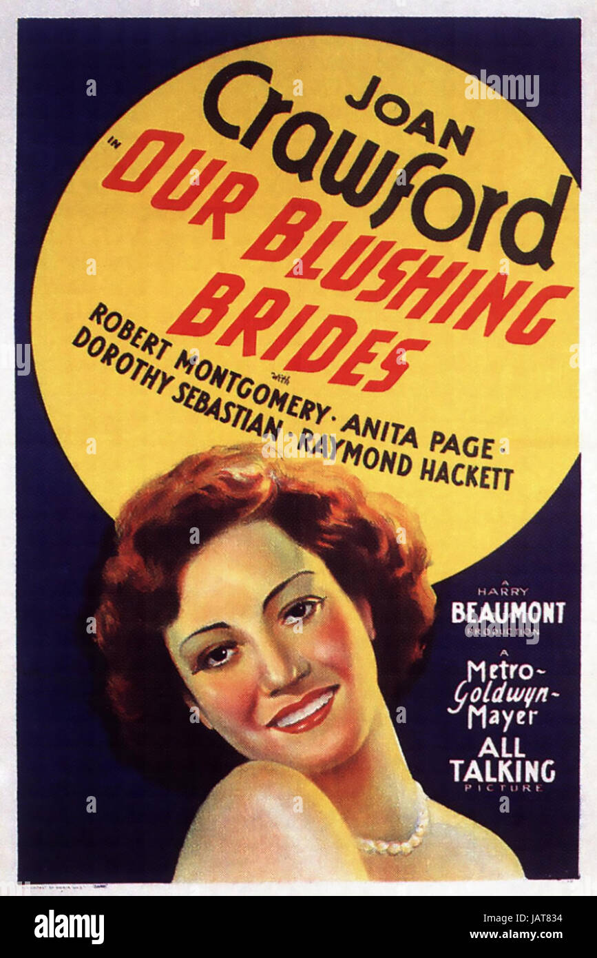 OUR BLUSHING BRIDES 1930 MGM film with Joan Crawford - Stock Image