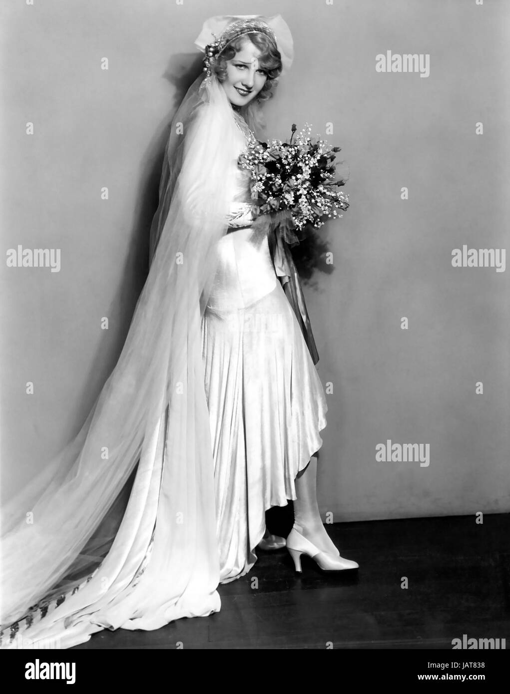 OUR BLUSHING BRIDES 1930 MGM film with Anita Page - Stock Image