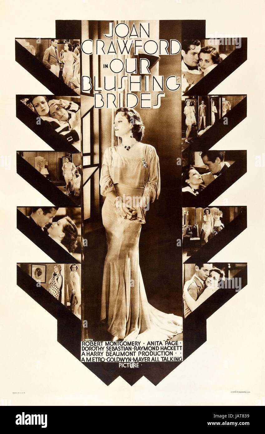 OUR BLUSHING BRIDES 1934 MGM  film with Joan Crawford - Stock Image