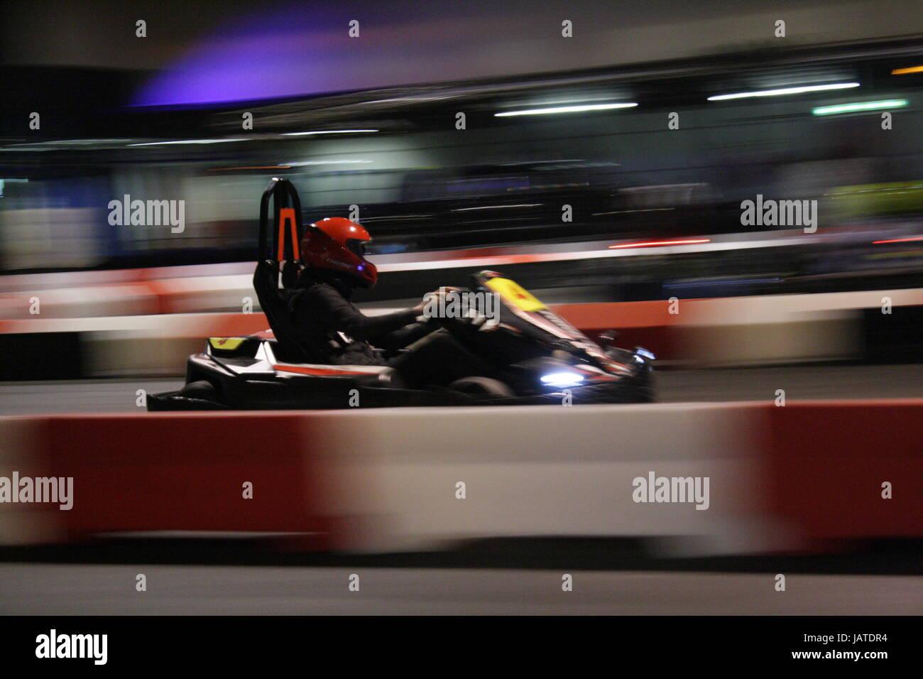 Indoor Karting - Stock Image