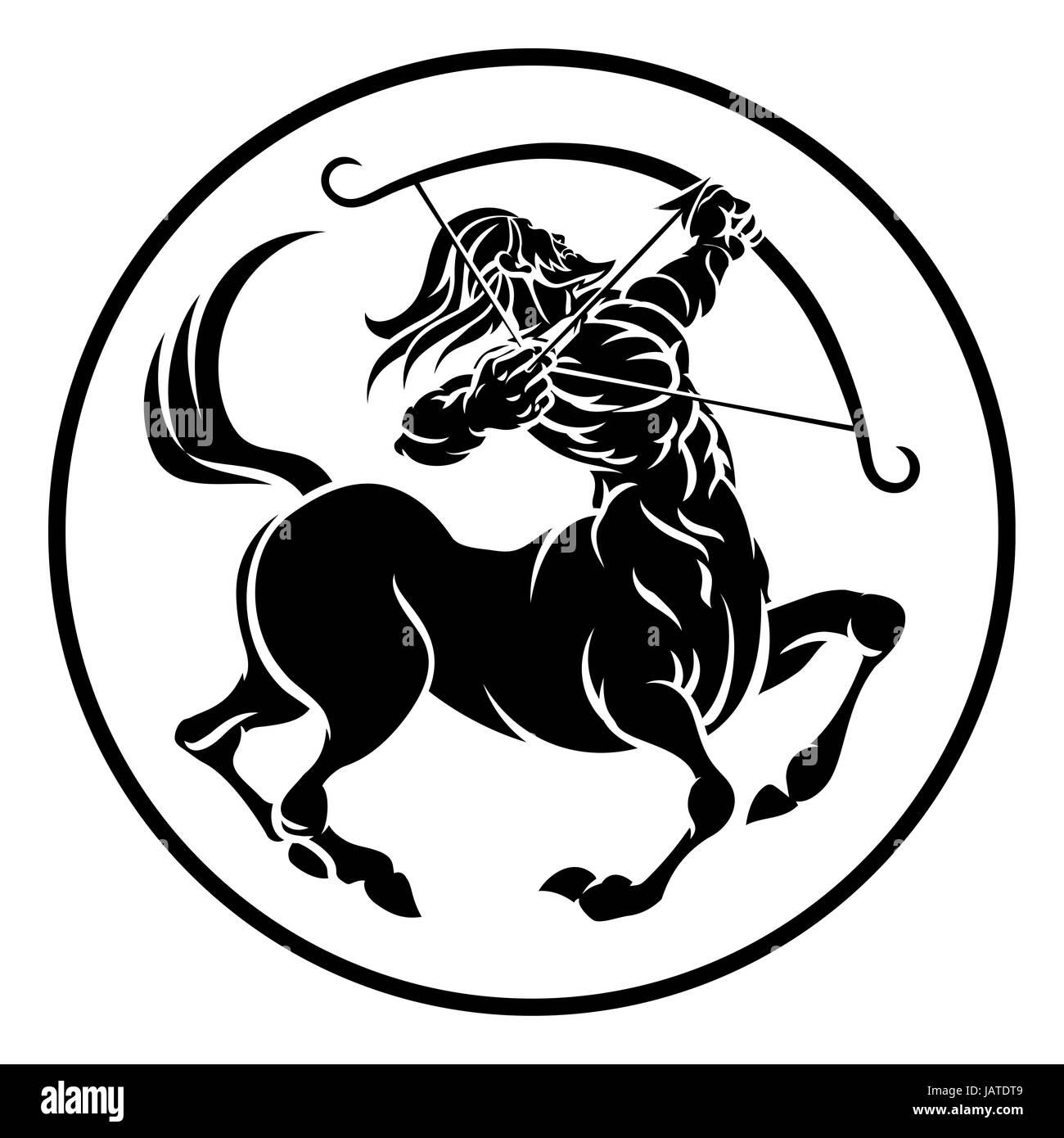 circle sagittarius archer centaur horoscope astrology zodiac sign