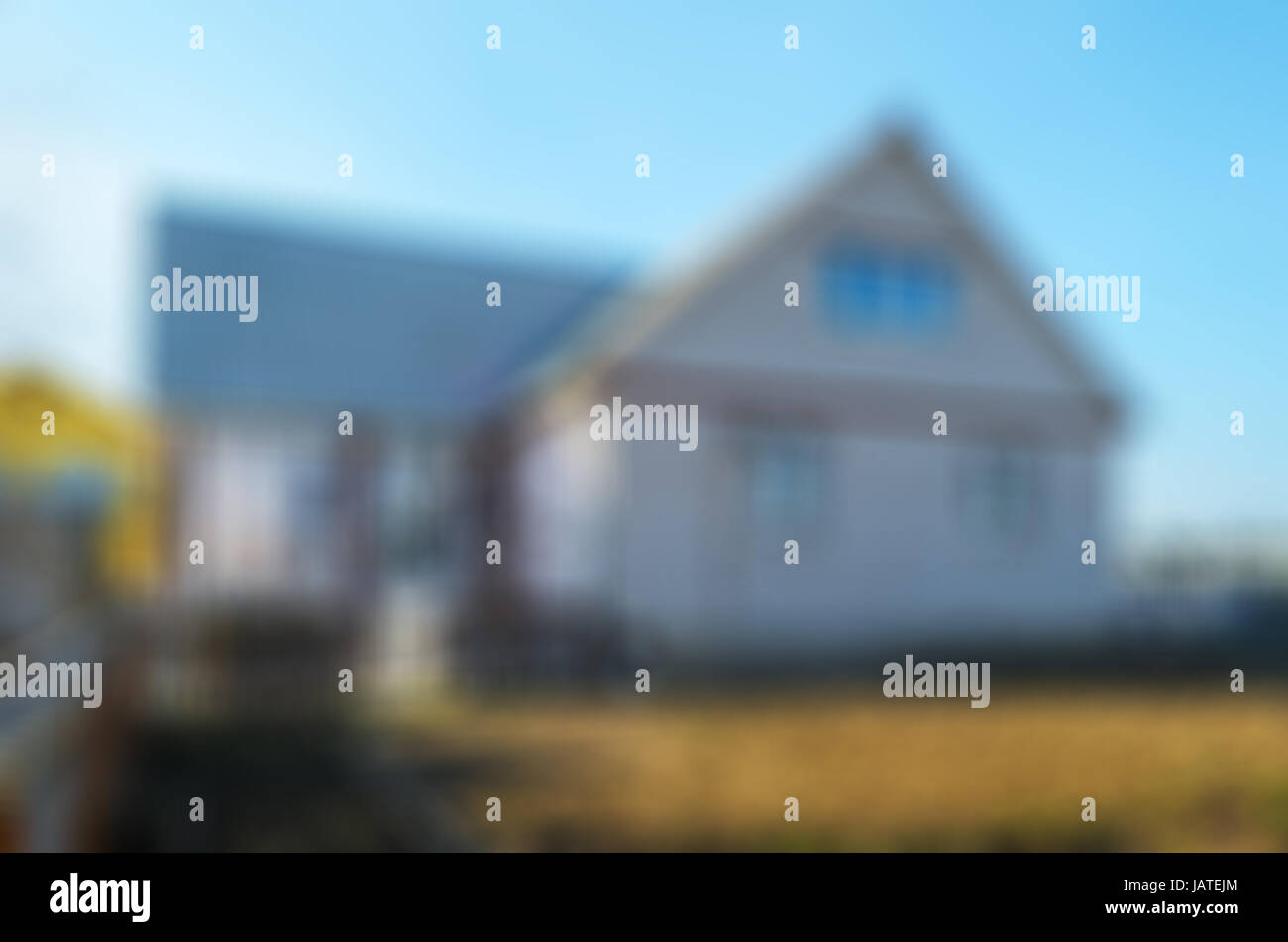 Blured view on a facade of private house Stock Photo