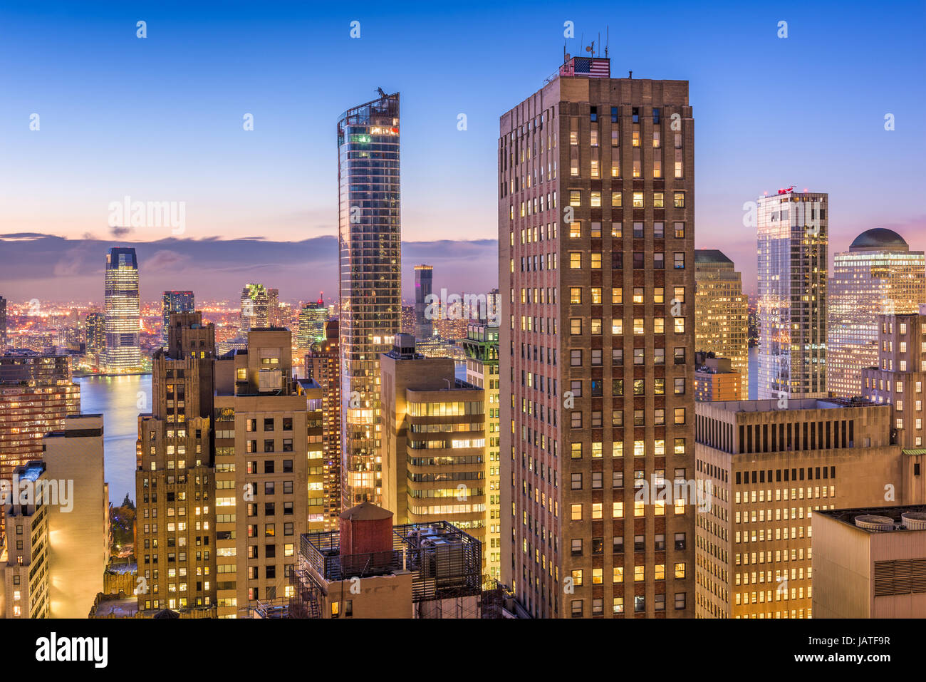 New York City Financial District cityscape. - Stock Image