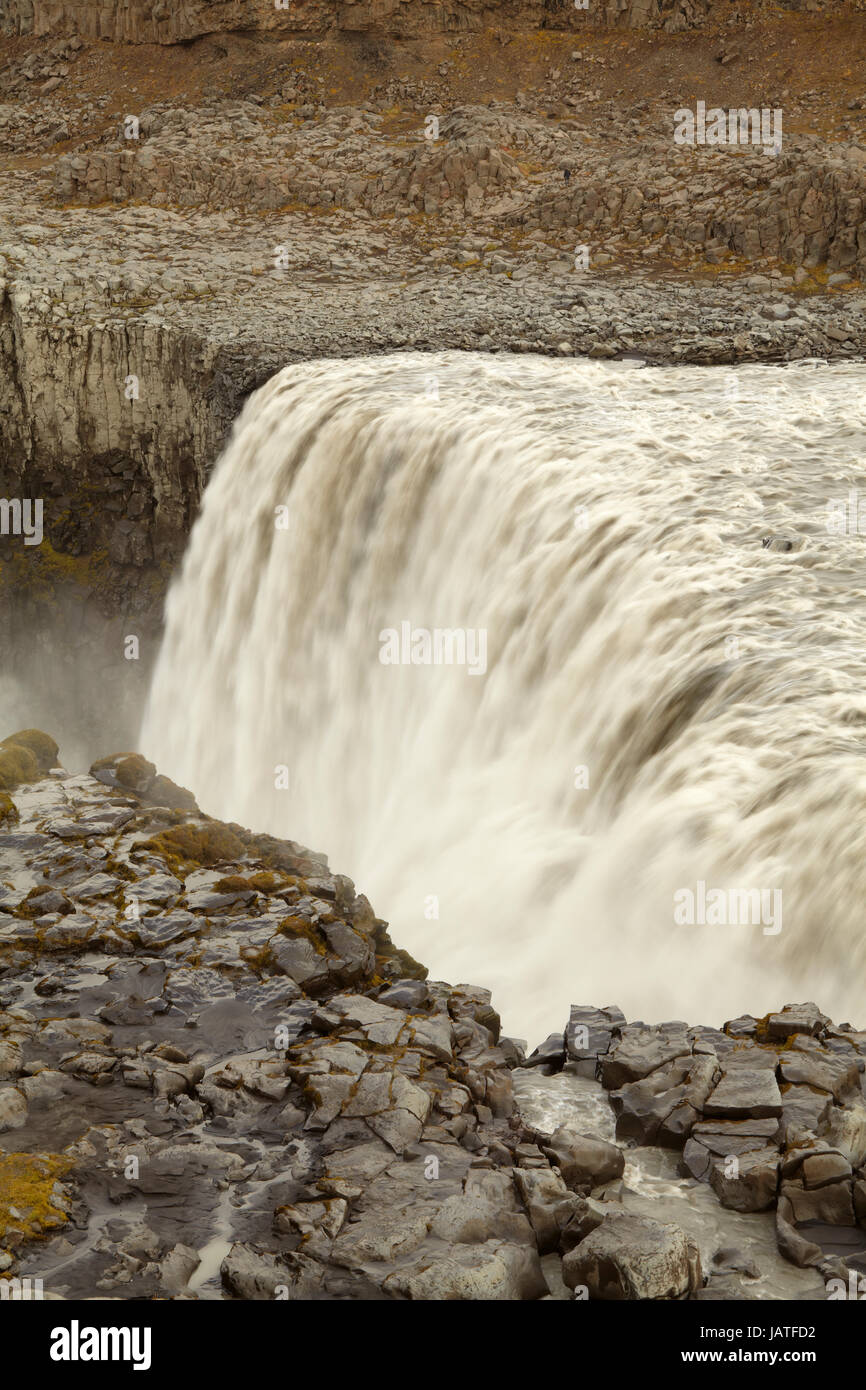 Detifoss falls in North Iceland - Stock Image