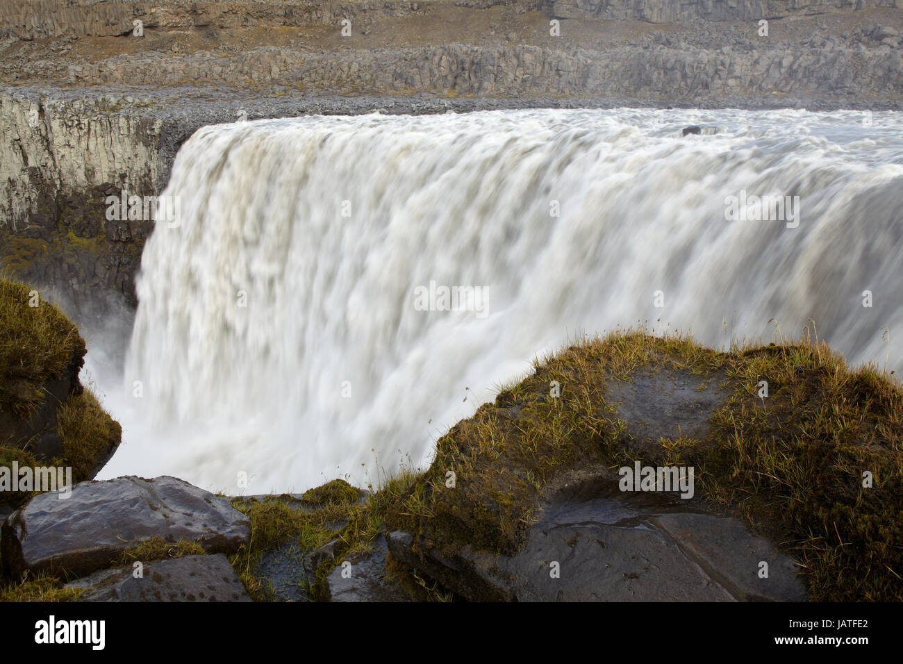 Upper Detifoss falls in North Iceland - Stock Image