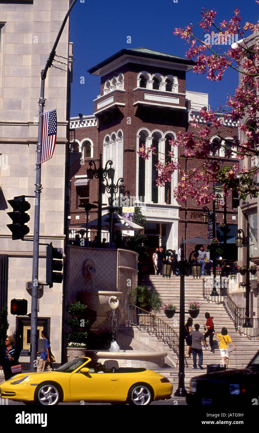 Rodeo Drive shopping area in Beverly Hills, CA - Stock Image