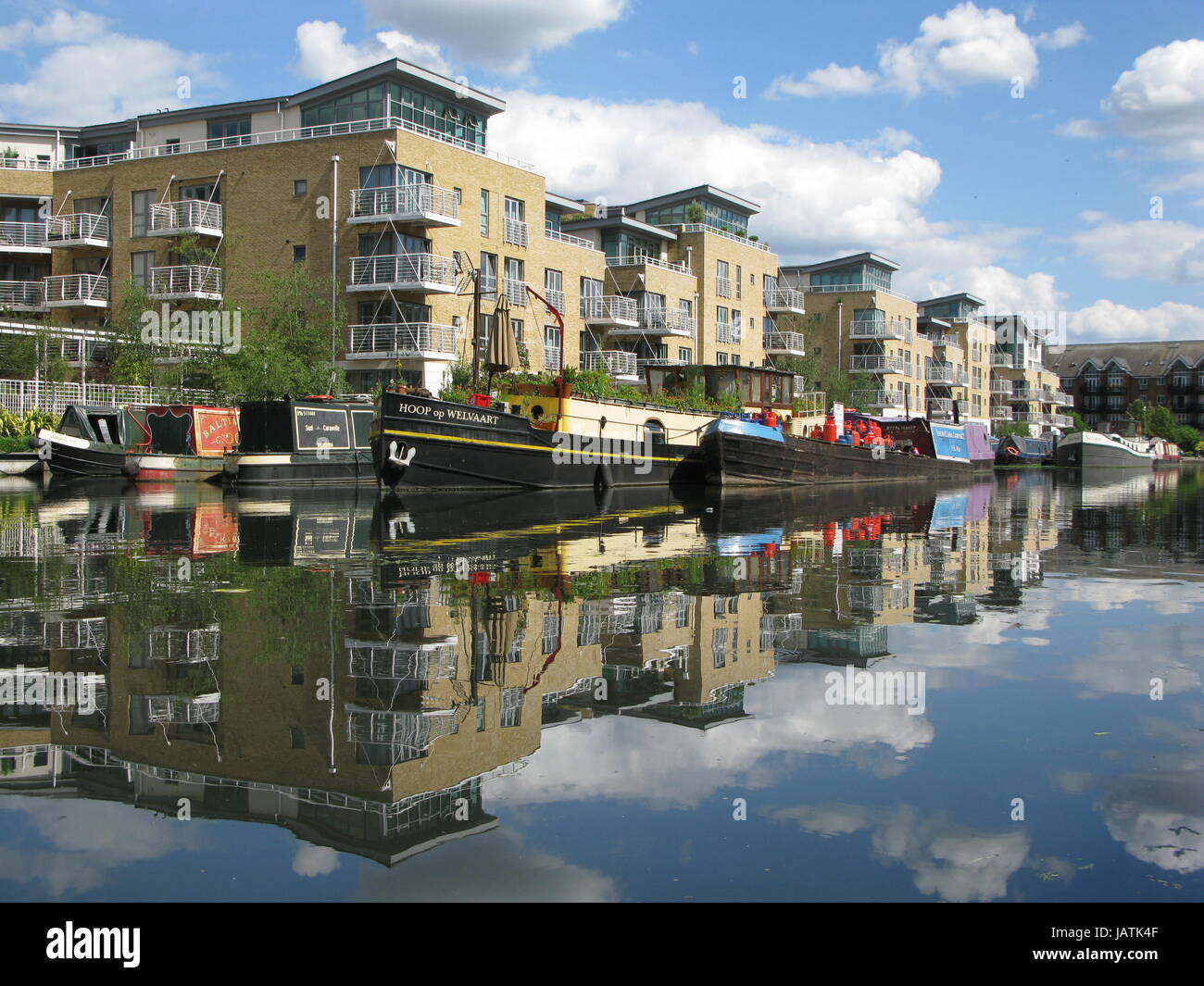 London, United Kingdom - June 1, 2017: Boats in Brentford Marina, River Brent, Greater London, Brentford, England, - Stock Image