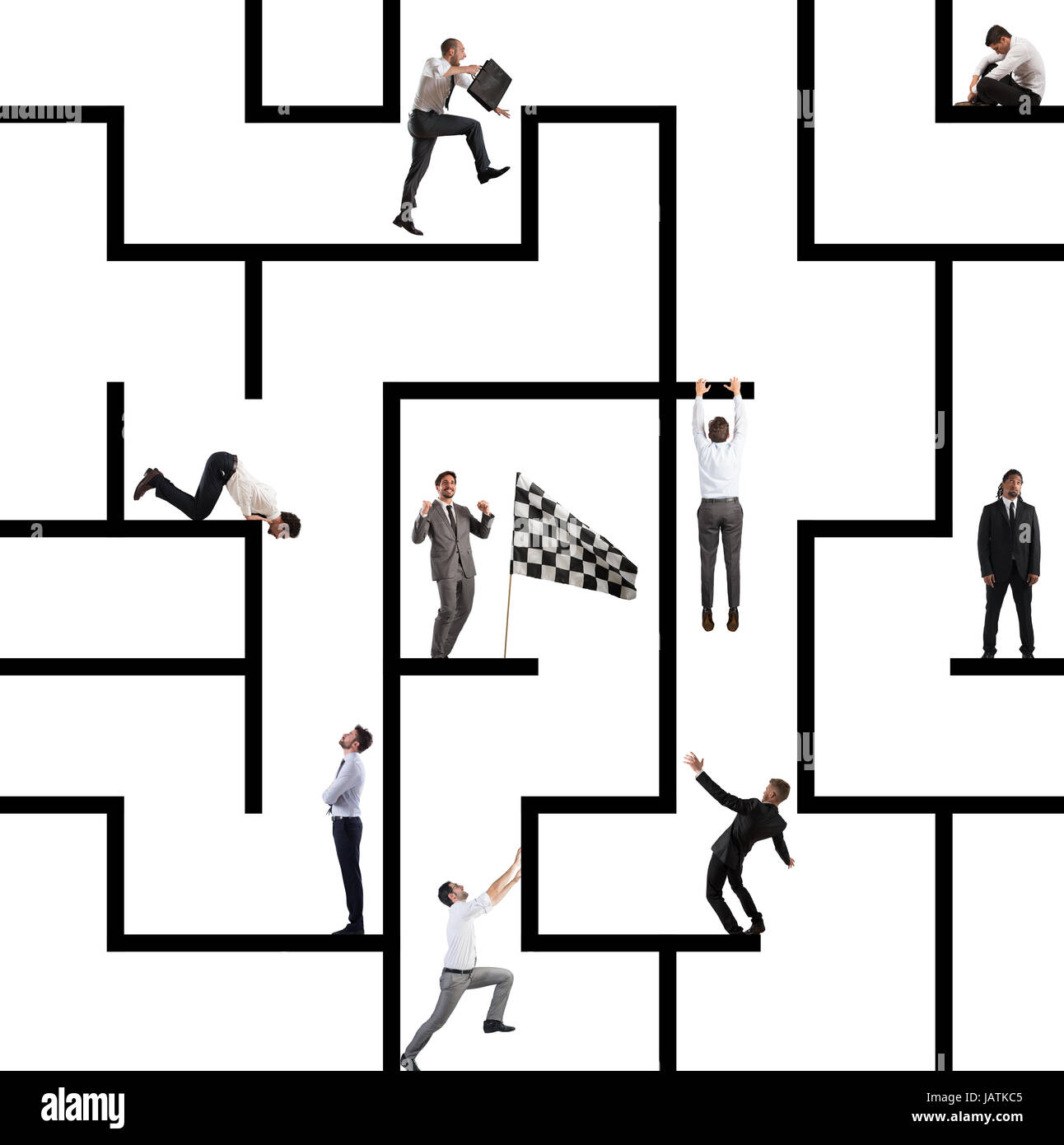 Business game of maze - Stock Image
