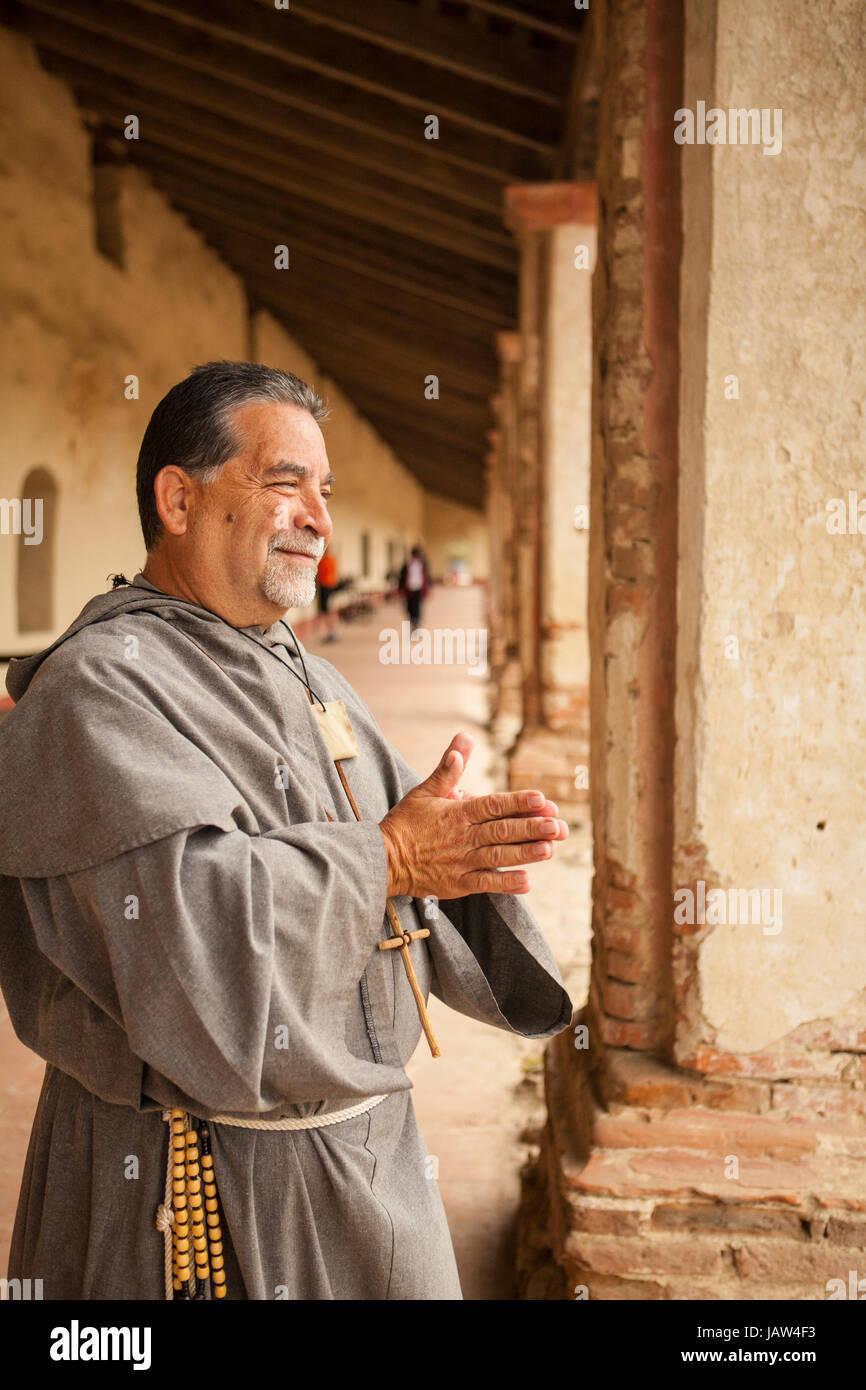 Spanish priest, La Purisima Mission State Historic Park, Lompoc, California - Stock Image