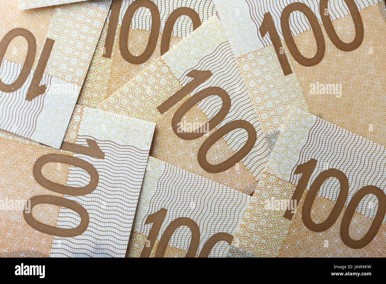New one hundred dollar bill background - Stock Image