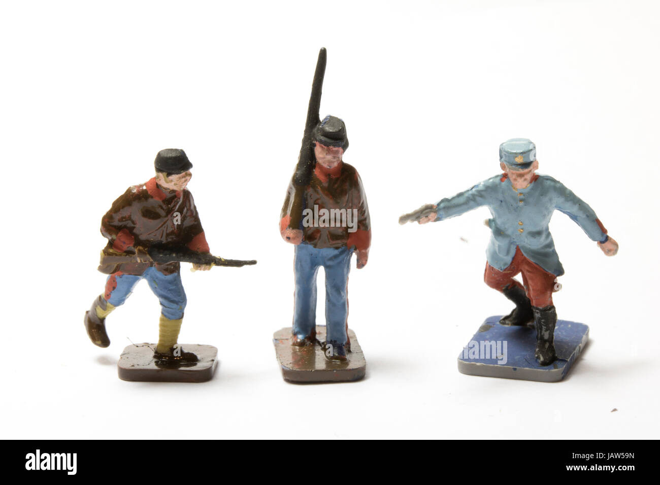 Collection of Tin and Vintage Toy Soldiers - Stock Image