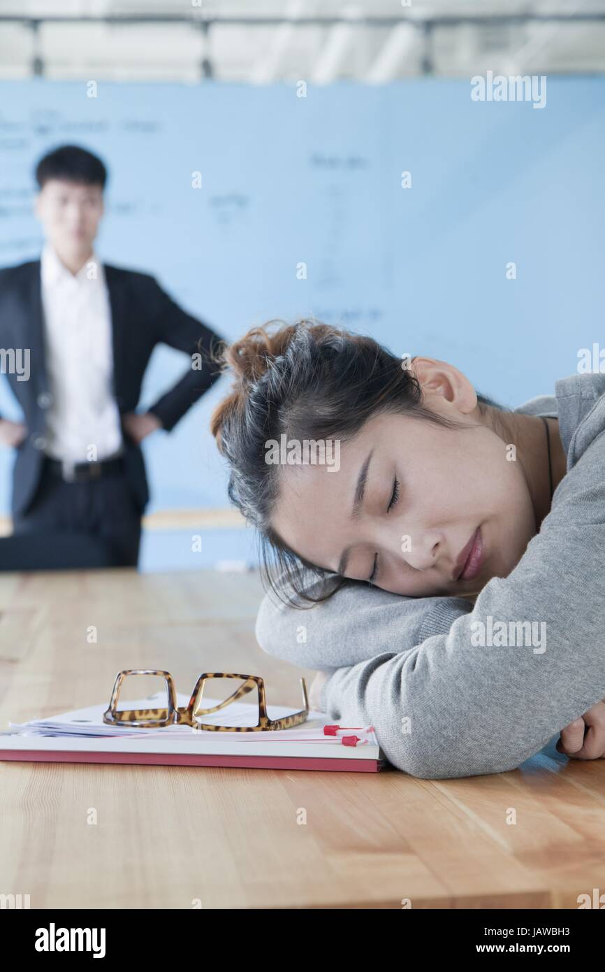 looking at sleep - Stock Image
