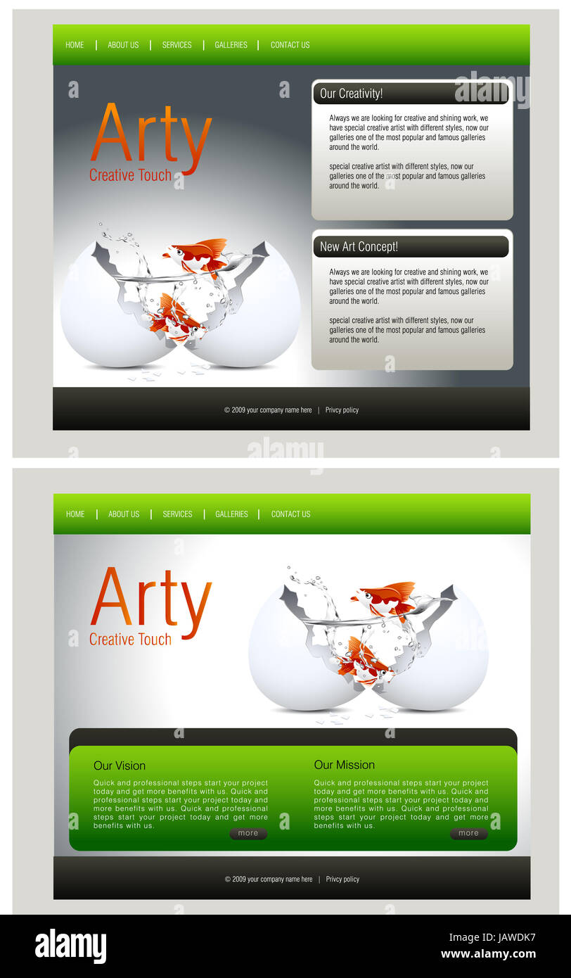 Website Template, easy to use in adobe Photoshop, Flash or