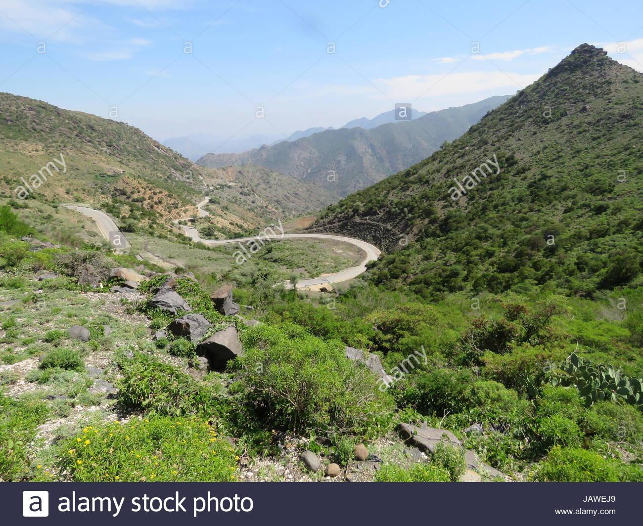 Shiikh winding road to Berbera, Somalia. - Stock Image