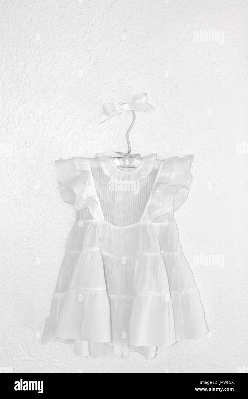 517d9f961 Vintage white baby dress from the early 1950's Stock Photo ...