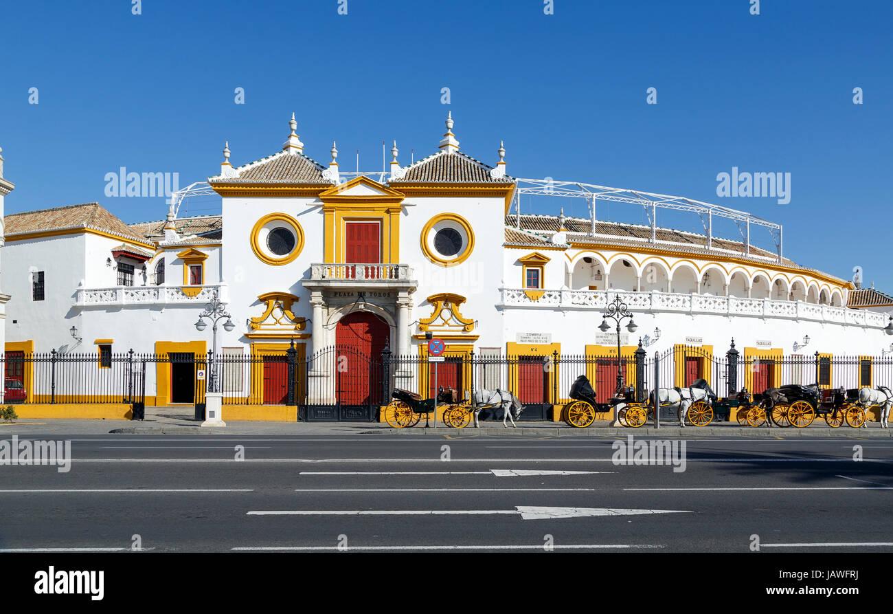 View of Real Maestranza de Caballeria de Sevilla, in Seville, Spain - Stock Image
